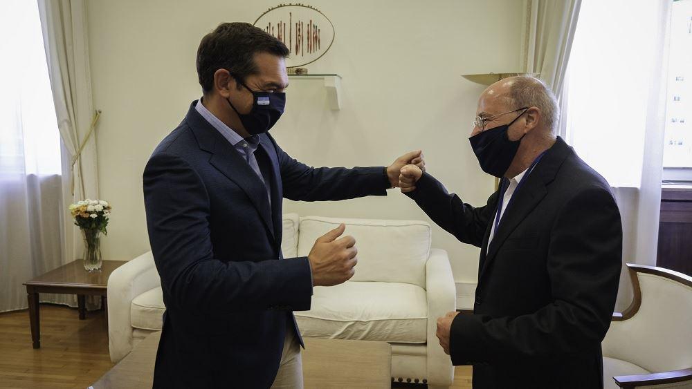 Συνάντηση Τσίπρα με τον πρόεδρο της κοινοβουλευτικής ομάδας φιλίας Γερμανίας-Ελλάδας