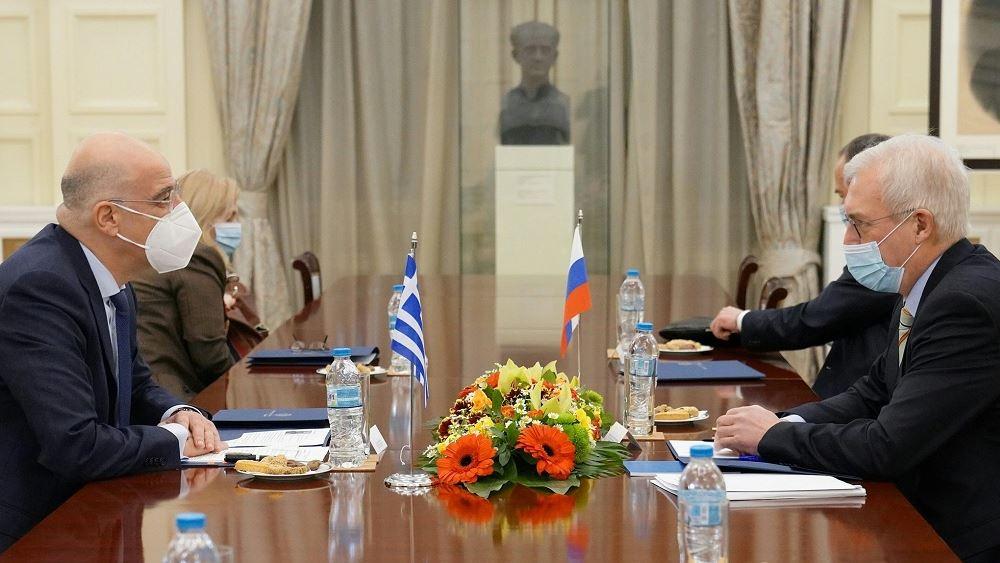 Συνάντηση Δένδια με την ΥφΥΠΕΞ της Ρωσίας Αλεξάντερ Γκρουσκό