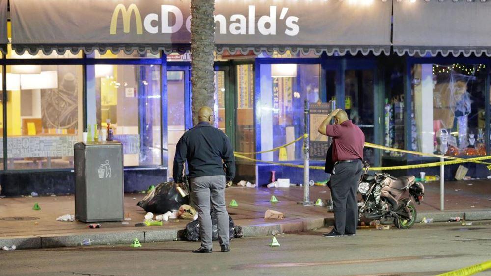 Νέα Ορλεάνη: Τουλάχιστον 11 τραυματίες από πυροβολισμούς στο κέντρο της πόλης
