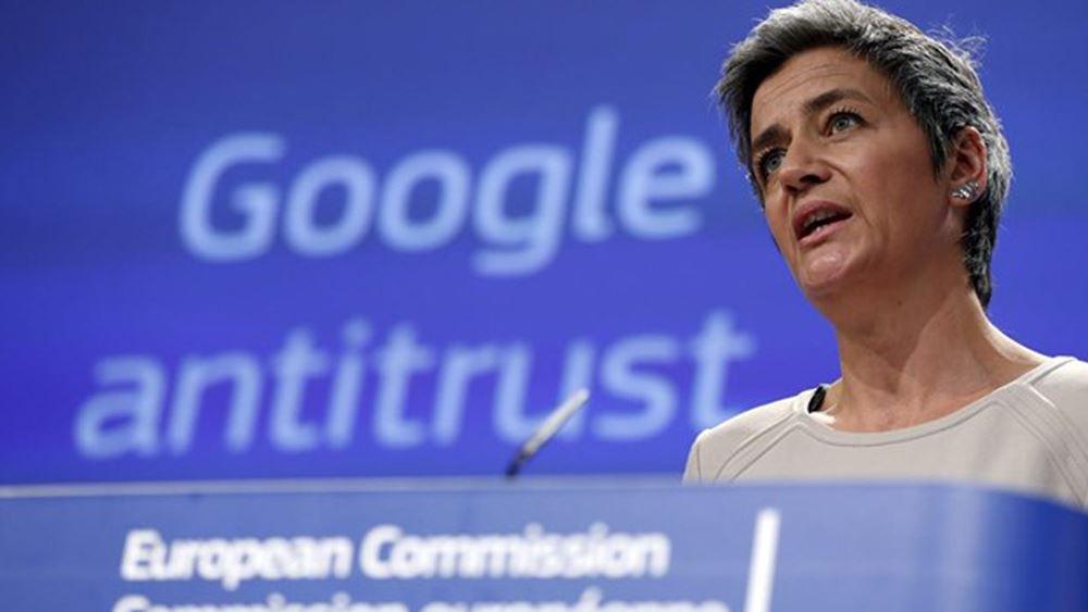 Στην Αθήνα αύριο η επίτροπος Ανταγωνισμού Μ. Βεστάγκερ για επαφές με Κ. Μητσοτάκη και κυβερνητικά στελέχη