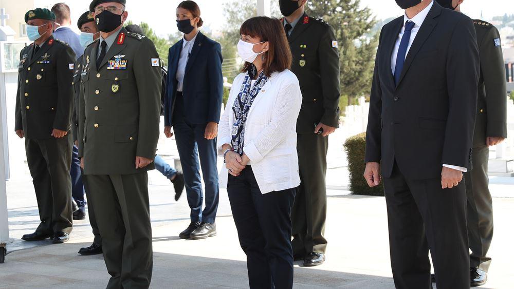 Σακελλαροπούλου: Η Κύπρος χρειάζεται κοινό, ειρηνικό μέλλον