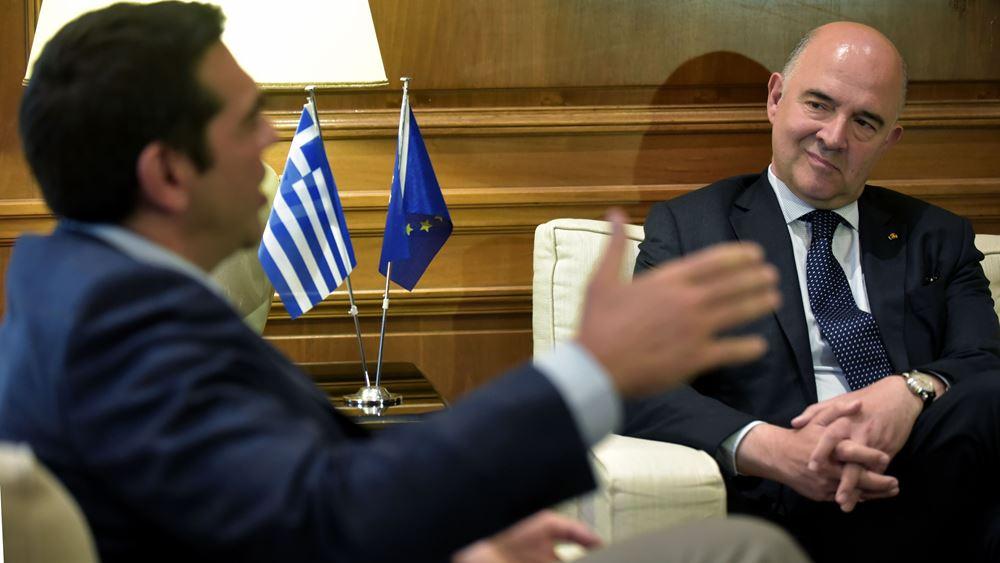 Σχέδιο 4 σταδίων ξεδίπλωσε ο Μοσκοβισί - Εσπευσμένα στην Αθήνα οι θεσμοί
