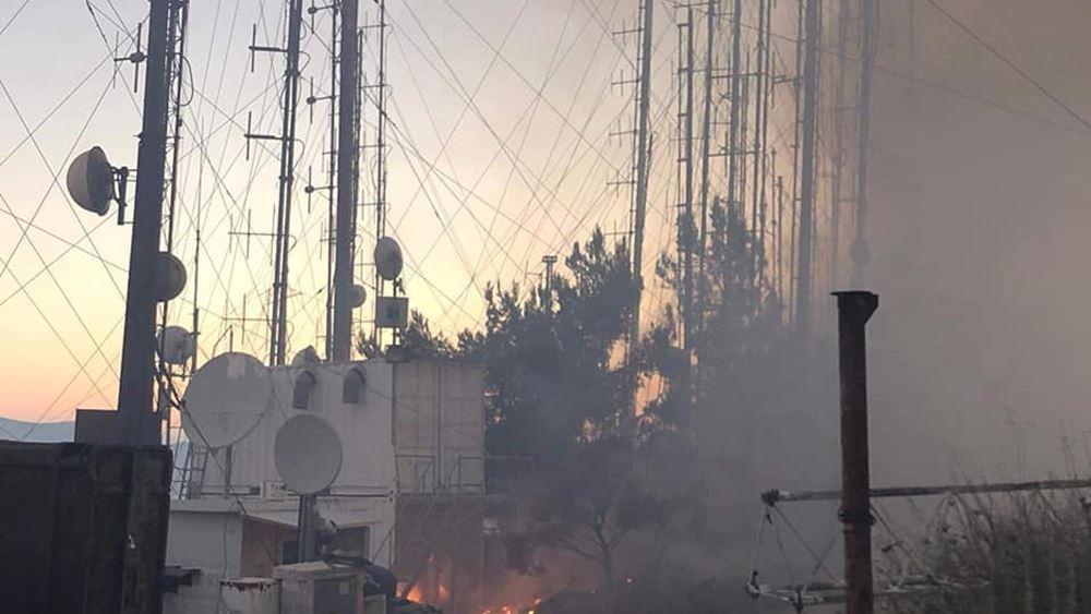 Σοβαρά προβλήματα σε πολλούς ραδιοφωνικούς σταθμούς λόγω της πυρκαγιάς στον Υμηττό