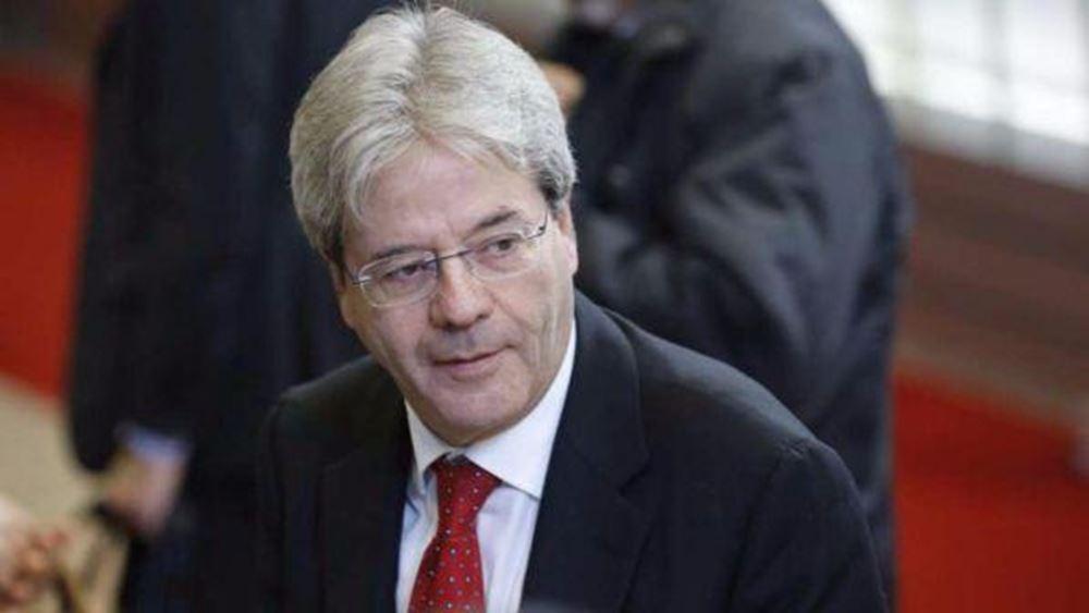 Gentiloni: Να ξεκινήσει το σχέδιο ανάκαμψης της Ευρώπης το β' εξάμηνο, είναι επείγον