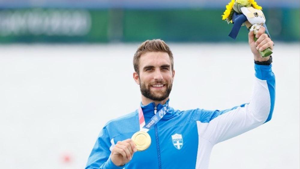"""Ολυμπιακοί αγώνες Τόκιο 2020: """"Χρυσός"""" με Ολυμπιακό ρεκόρ ο Ντούσκος στην κωπηλασία"""