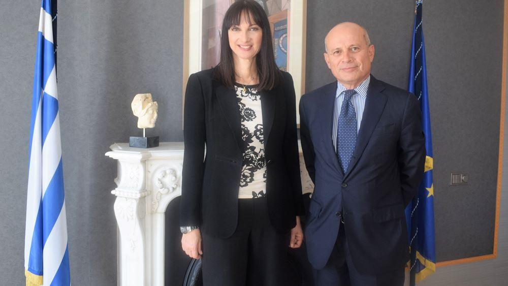 Συνάντηση Ε. Κουντουρά  με τον Ιταλό Πρέσβη για την ενίσχυση της τουριστικής συνεργασίας Ελλάδας- Ιταλίας