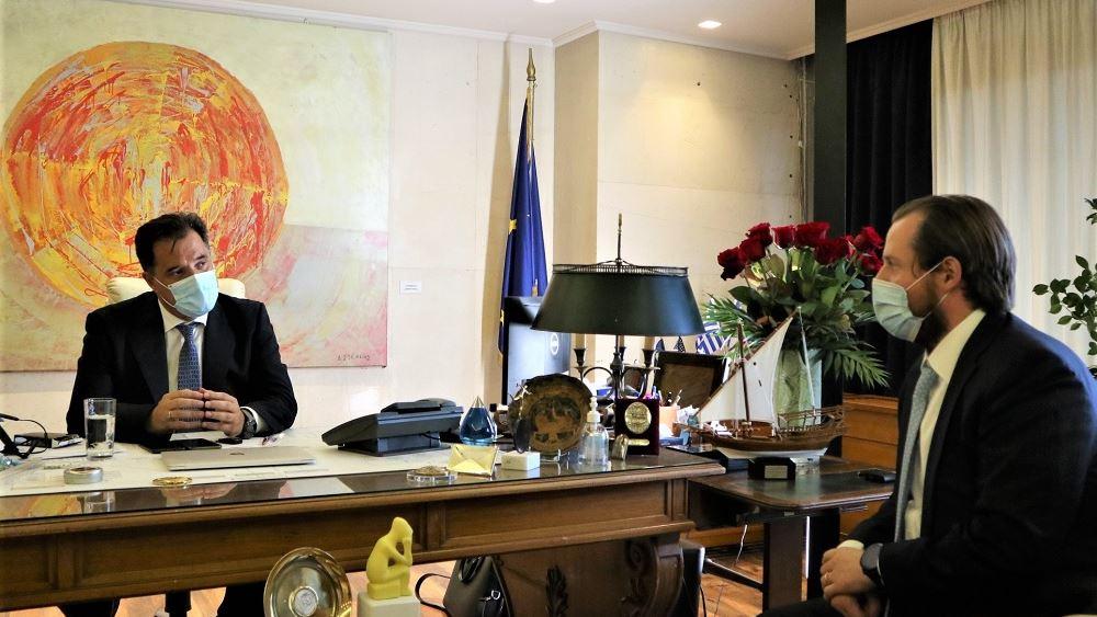 Συνάντηση Γεωργιάδη με τον αντιπρόεδρο του Επιχειρηματικού Συνδέσμου Αμερικής - Κεντρικής Ευρώπης