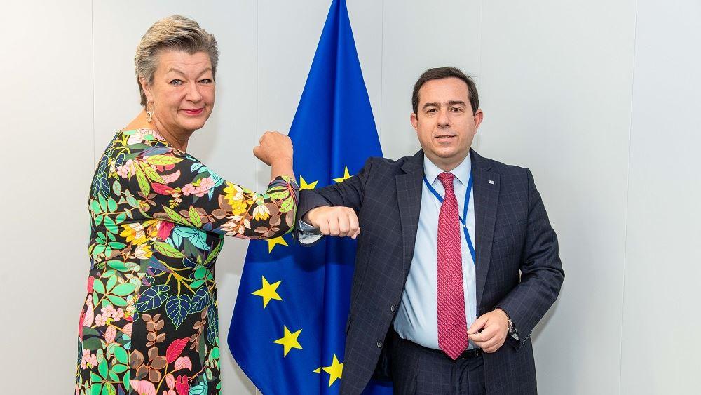 Συνάντηση Μηταράκη με την Επίτροπο Εσωτερικών Υποθέσεων και Μετανάστευσης της ΕΕ