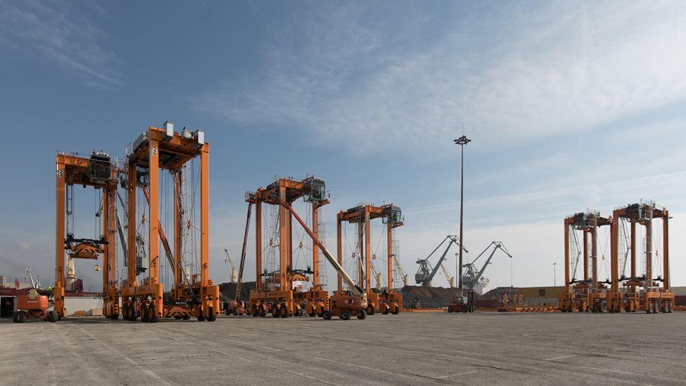 Παραλαβή 12 Οχημάτων Στοιβασίας & Μεταφοράς Εμπορευματοκιβωτίων στο λιμάνι της Θεσσαλονίκης