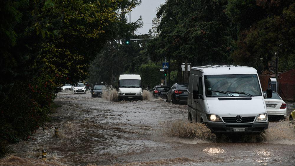 Βροχοπτώσεις στην Κ. Μακεδονία - Επί ποδός μηχανήματα της πολιτικής προστασίας