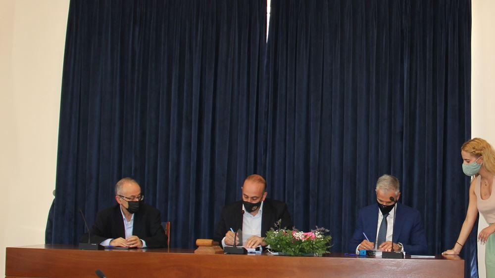 """Υπογραφή συμβολαίου Logicom Solutions - Δήμου Πάφου για τη μετατροπή της Πάφου σε """"έξυπνη"""" και """"ψηφιακή"""" πόλη"""