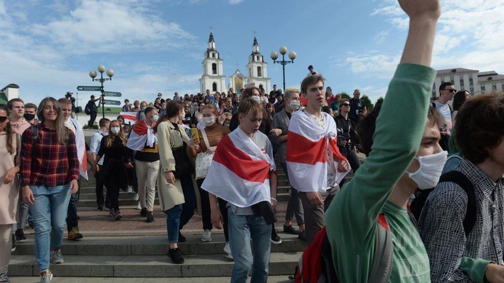 Λευκορωσία: Τουλάχιστον 350 άνθρωποι συνελήφθησαν στις χθεσινές διαδηλώσεις