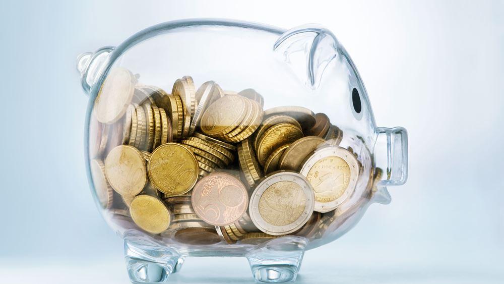 ΤτΕ: Κατά 2,96 δισ. ευρώ αυξήθηκαν οι καταθέσεις του ιδιωτικού τομέα τον Απρίλιο