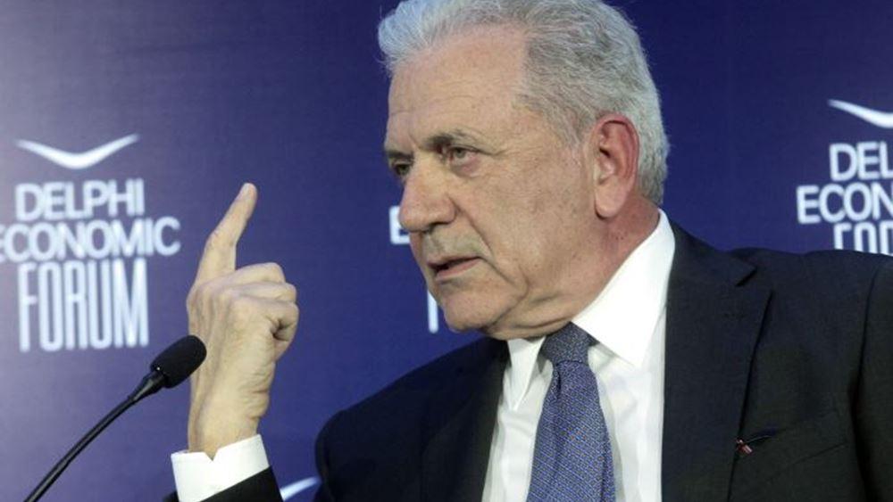 """Αβραμόπουλος: """"Η Ελλάδα δεν είναι μόνη της. Υπάρχει πέπλο προστασίας από την ΕΕ"""""""