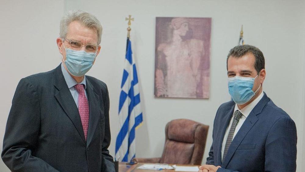 Συνάντηση υπουργού Υγείας με τον πρέσβη των ΗΠΑ