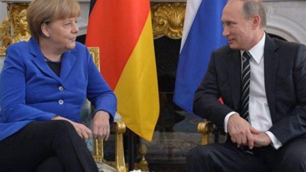 """Πούτιν - Μέρκελ """"τα είπαν"""" τηλεφωνικά για Συρία, Ουκρανία, Λιβύη"""