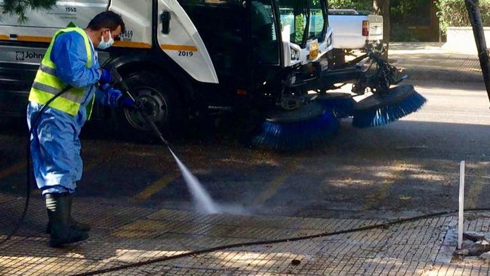 Δήμος Αθηναίων: Μεγάλη επιχείρηση καθαριότητας-απολύμανσης στα Πατήσια