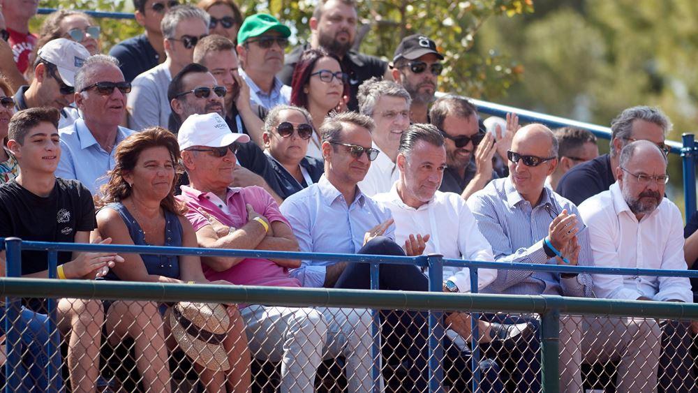 Είδε Τσιτσιπά στο Davis Cup ο Κ. Μητσοτάκης