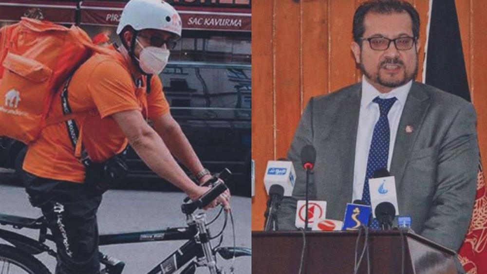 Ο Αφγανός υπουργός που έγινε διανομέας με ποδήλατο στη Γερμανία