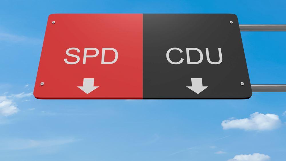 """Γερμανική δημοσκόπηση: Το CDU """"μαζεύει"""" τη διαφορά από το SPD"""