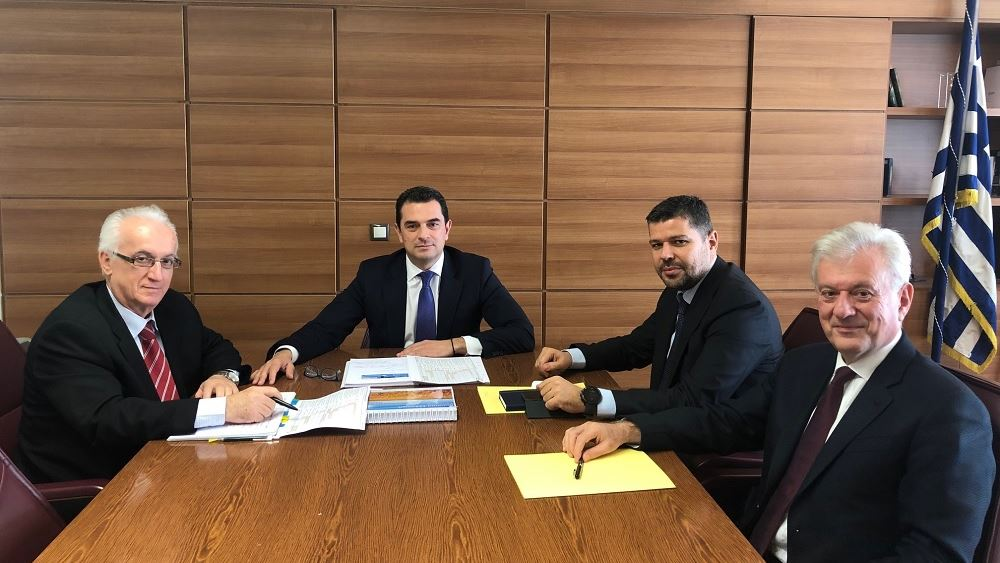 Συνάντηση του Κ. Σκρέκα με τον πρόεδρο και διευθύνοντα σύμβουλο της ΔΕΗ για το Φράγμα Μεσοχώρας