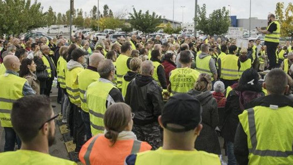 """Γαλλία:  Βίαια επεισόδια στο Παρίσι στις διαδηλώσεις των """"κίτρινων γιλέκων"""""""
