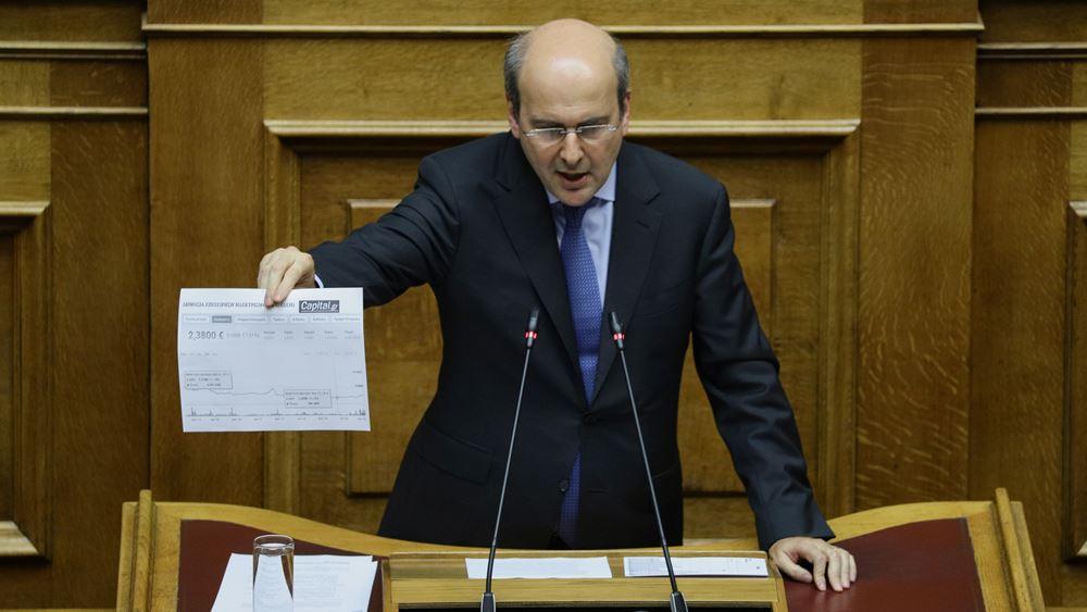 """Κ. Χατζηδάκης: """"Λογαριασμός Τσίπρα"""" η επιβάρυνση στο ρεύμα"""
