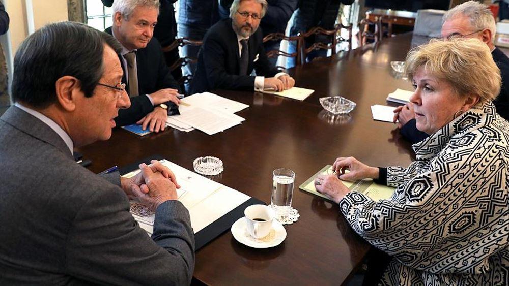 Κύπρος: Συναντήσεις με Αναστασιάδη και Ακιντζί θα έχει η Ειδική Απεσταλμένη του ΟΗΕ
