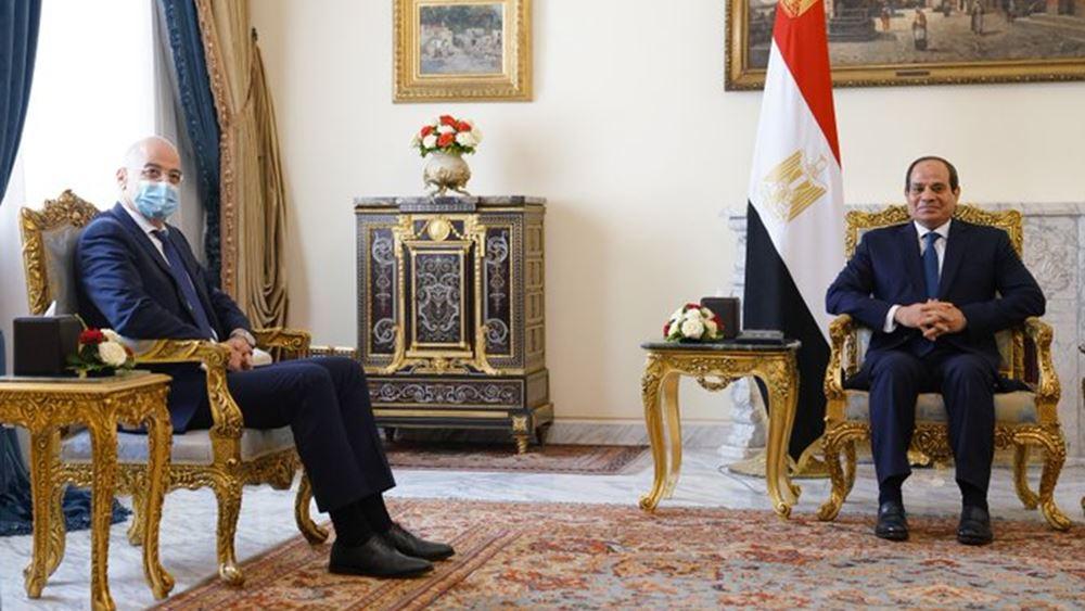 Δένδιας - Αλ Σίσι: Οι ισχυροί δεσμοί Ελλάδας-Αιγύπτου στο επίκεντρο της συζήτησης