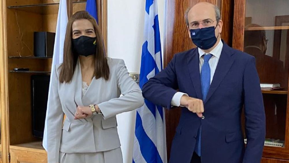 Συνάντηση Κ. Χατζηδάκη με την υπουργό Ενέργειας, Εμπορίου και Βιομηχανίας της Κύπρου, Ν. Πηλείδου