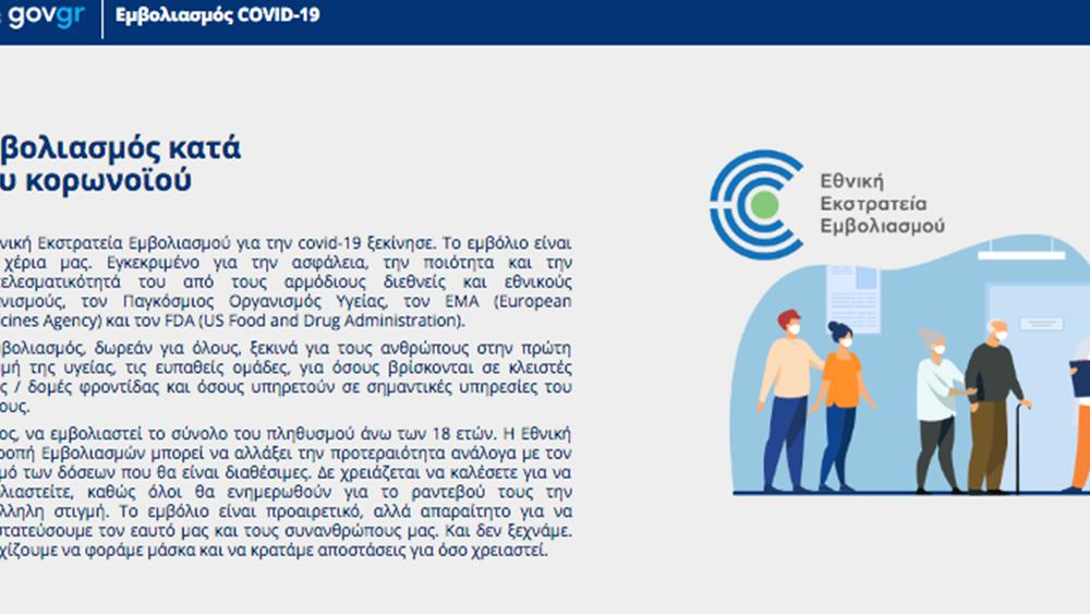 """""""Πρεμιέρα"""" από το πρωί για το emvolio.gov.gr - Οι 8 απαντήσεις για το εμβόλιο που πρέπει να γνωρίζουμε"""