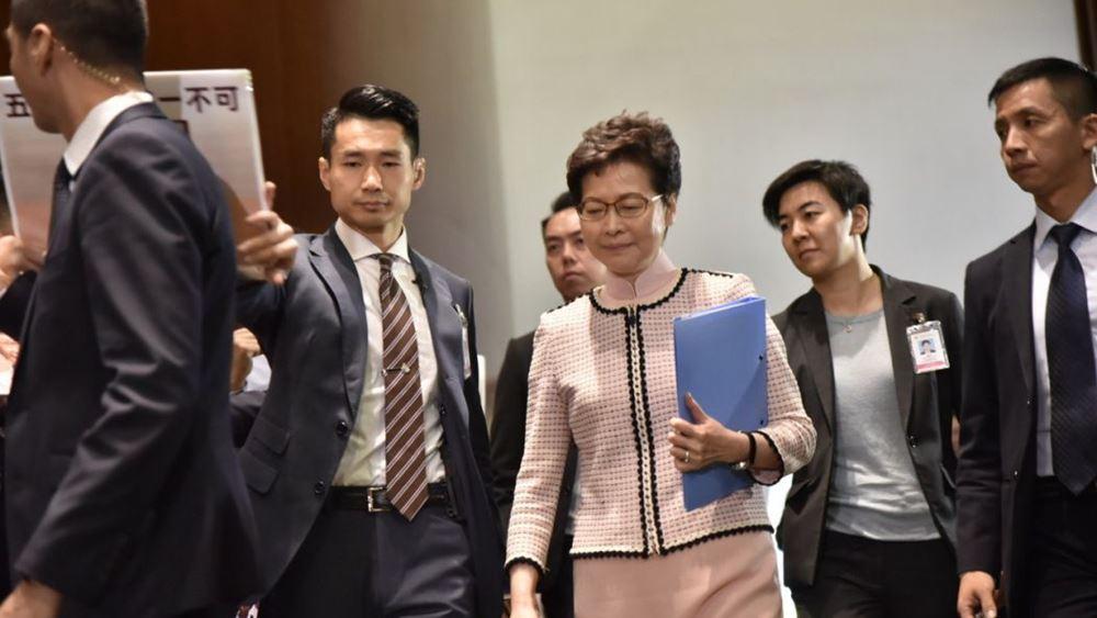 Επικεφαλής κυβέρνησης Χονγκ Κονγκ: Τα αμερικανικά νομοθετήματα θα πλήξουν την επιχειρηματική εμπιστοσύνη