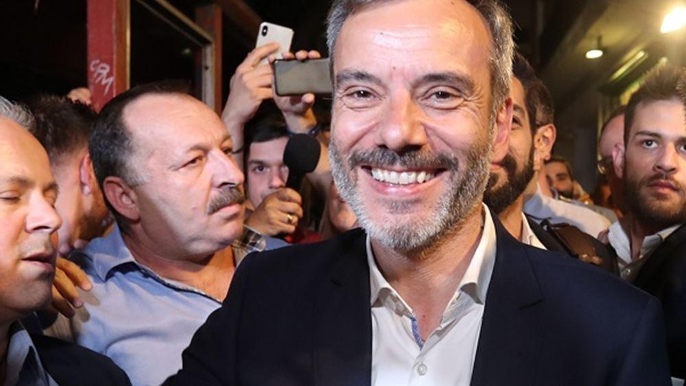 Συνάντηση του δημάρχου Θεσσαλονίκης Κ. Ζέρβα με τον Γιάνη Βαρουφάκη