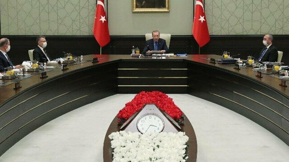 Τουρκία: Το Συμβούλιο Εθνικής Ασφάλειας καλεί την Ελλάδα να μην προκαλεί και ζητά λύση δύο κρατών στην Κύπρο