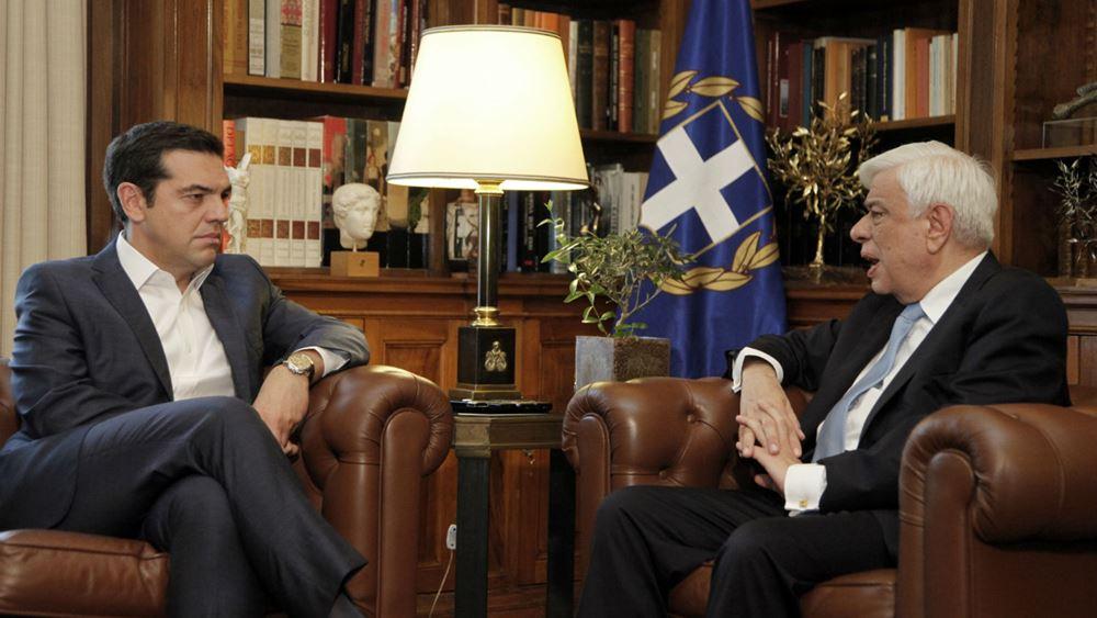"""Τετ α τετ Τσίπρα με πολιτικούς αρχηγούς - """"Εθνική γραμμή"""" ο στόχος, είπε σε Παυλόπουλο"""