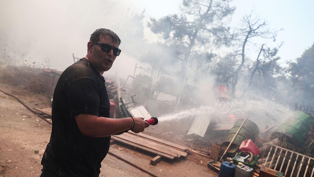 Σε σύλληψη μετατράπηκε η προσαγωγή του 64χρονου μελισσοκόμου για την πυρκαγιά σε Σταμάτα, Ροδόπολη, Διόνυσο