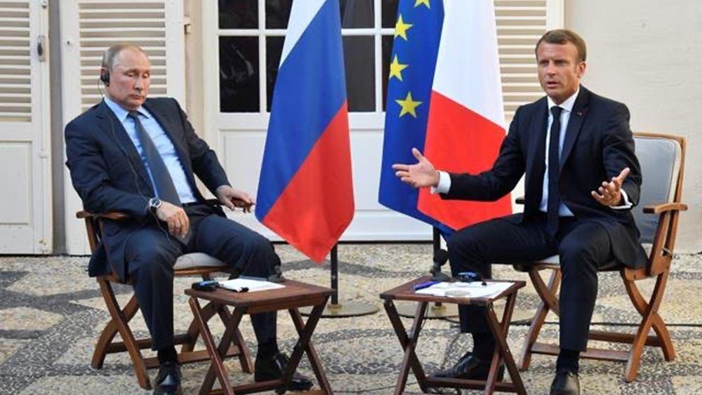 """Πούτιν προς Μακρόν: Οι κατηγορίες για την υπόθεση Ναβάλνι είναι """"απαράδεκτες"""""""