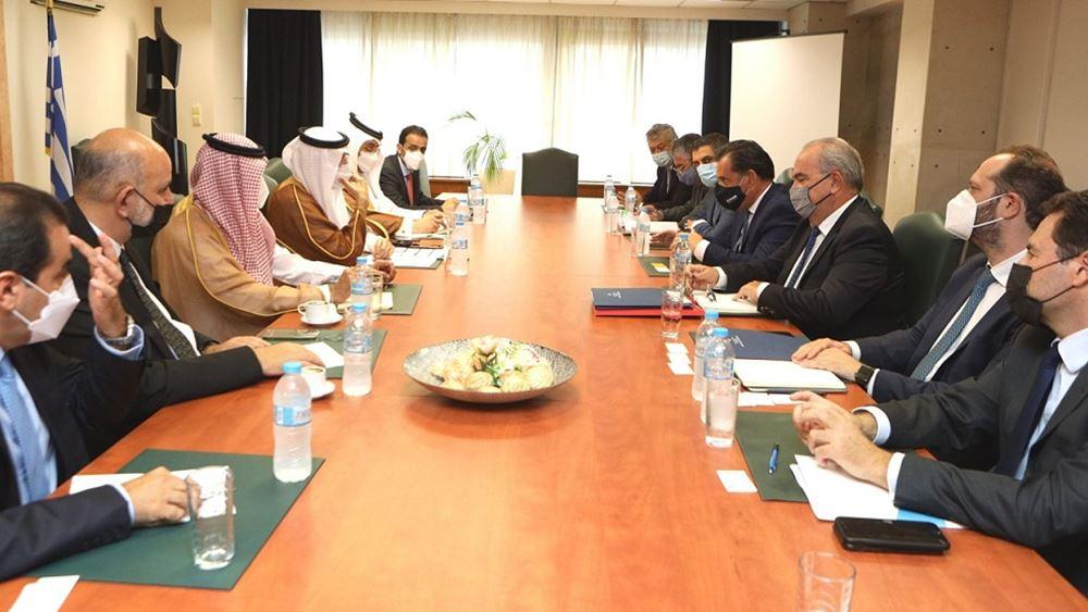 Συνάντηση Α. Γεωργιάδη με τον υπουργό Επενδύσεων της Σαουδικής Αραβίας