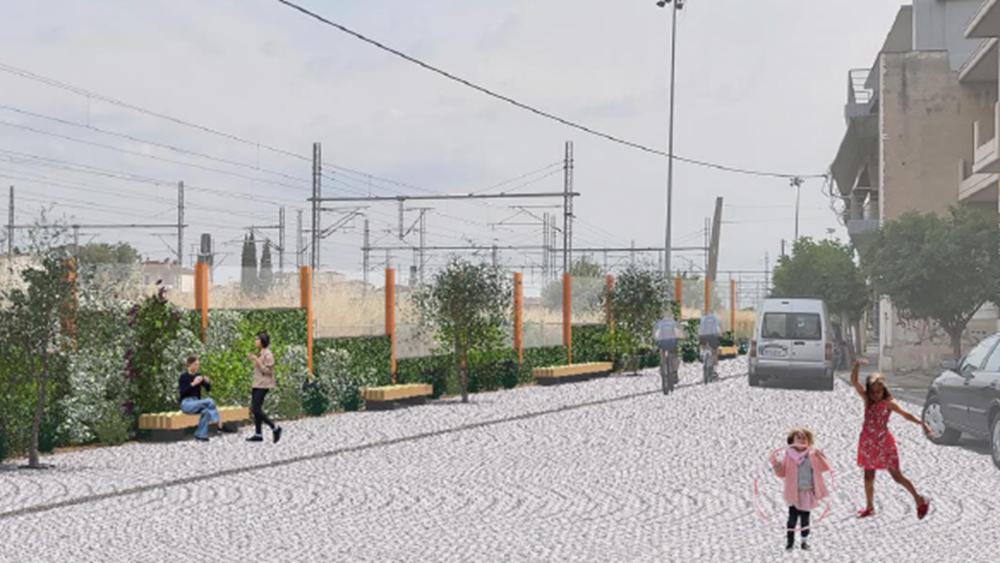 Τοποθέτηση ηχοπετασμάτων κατά μήκος των σιδηροδρομικών γραμμών στη Λάρισα