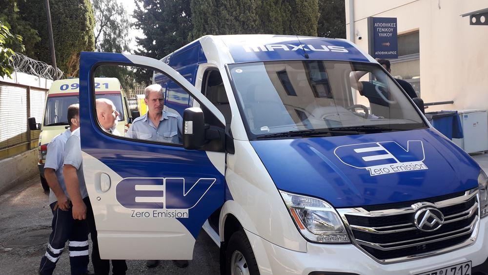 ΕΚΑΒ: Παραχώρηση ηλεκτρικού βαν στο δημόσιο για τη μεταφορά φαρμάκων