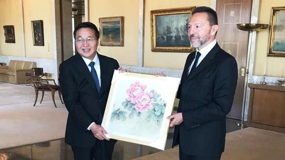 Συνάντηση του Γιάννη Στουρνάρα με αντιπροσωπεία της Industrial and Commercial Bank of China