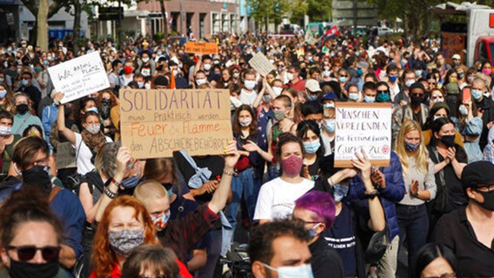 Γερμανία: Διαδηλώσεις σε πολλές πόλεις με αίτημα η ΕΕ να υποδεχθεί αιτούντες άσυλο από την Λέσβο