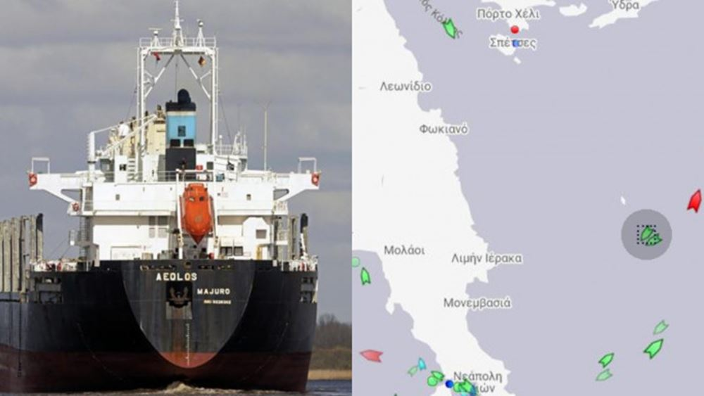 Ακυβέρνητο πλοίο στα ανοιχτά της Λακωνίας - Άνεμοι 10 μποφόρ στη περιοχή