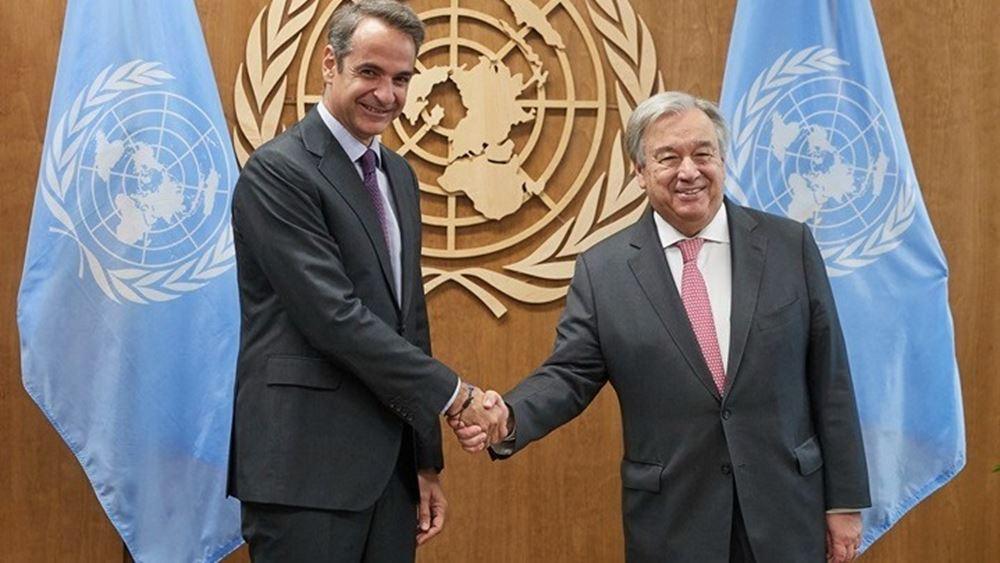 Ο Κυρ. Μητσοτάκης ενημέρωσε τον ΓΓ ΟΗΕ για την τουρκική παραβατικότητα
