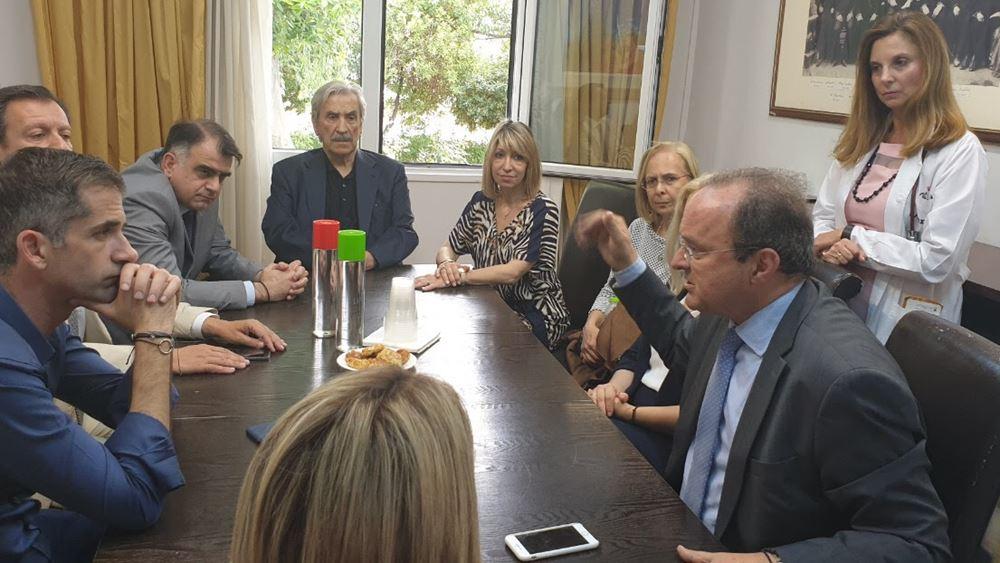 """Το Νοσοκομείο """"Ελπίς"""" επισκέφθηκε ο Κώστας Μπακογιάννης"""