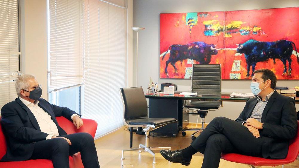 Συνάντηση Αλέξη Τσίπρα με τον Άντρο Κυπριανού