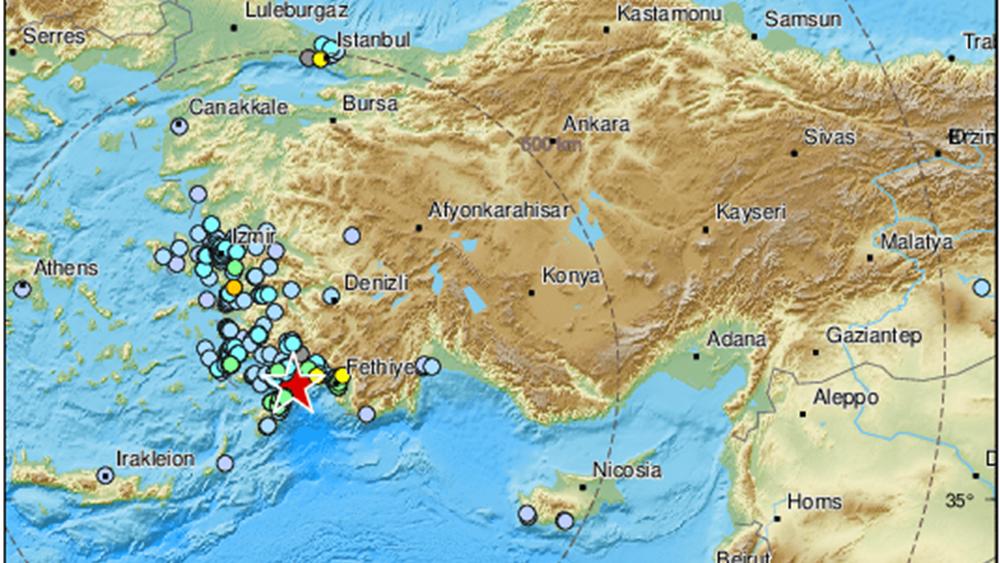 """Ισχυρός σεισμός 5,4 Ρίχτερ """"ταρακούνησε"""" τη Ρόδο"""