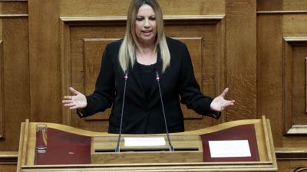 Φ. Γεννηματά: Η κυβέρνηση δεν διαθέτει οργανωμένο σχέδιο αντιμετώπισης της εγκληματικότητας