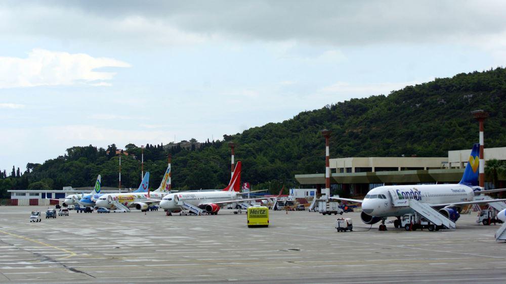 Περισσότεροι από 4 εκατ. τουρίστες διακινήθηκαν με πτήσεις στο αεροδρόμιο της Ρόδου το 2019