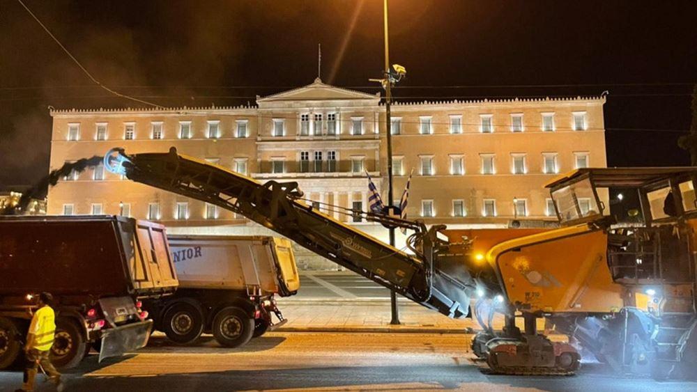 έργα ανακατασκευής πλατεία Συντάγματος